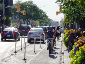 Bloor bike lane, September 2016. Photo by Martin Reis.