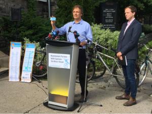 Tour de Bloor Passport announced on June 21, 2017. Albert Koehl (left) and Jared Kolb, Cycle Toronto